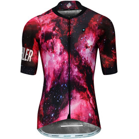 Biehler Pro Team Fietsshirt korte mouwen Heren roze/zwart